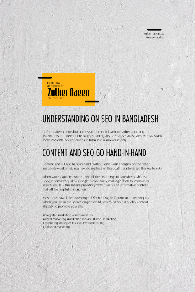 Understanding on SEO in Bangladesh