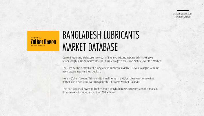 Bangladesh Lube Market