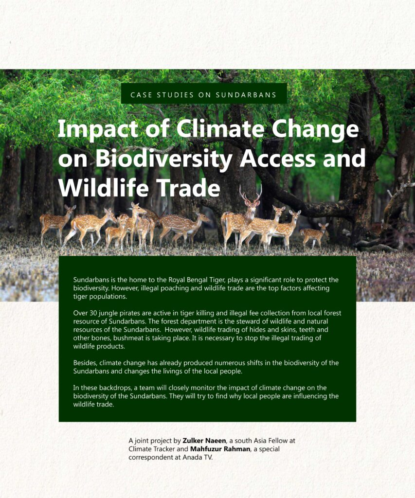 Impact of Climate Change on Biodiversity and Wildlife Trade in Sundarbans